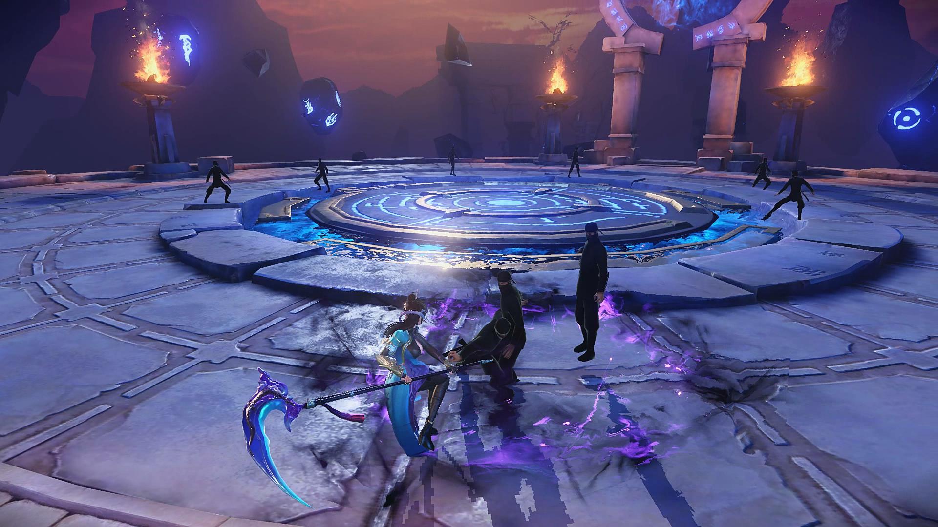 《武动乾坤》手游黑暗神殿战斗图